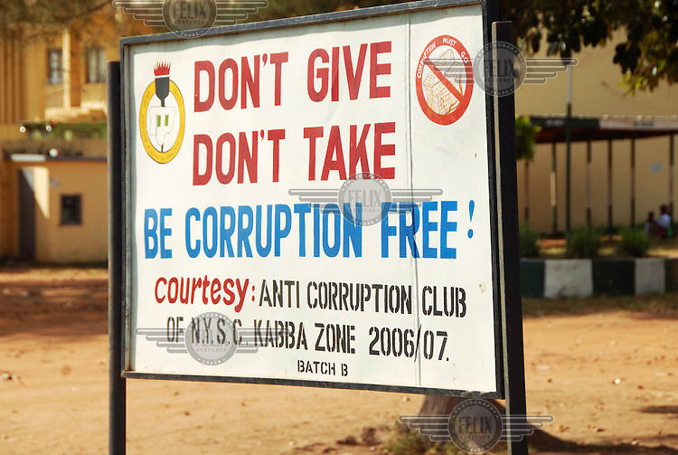 Anti corruption notice in Kwara State..