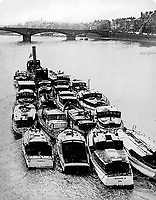 BNPS.co.uk (01202 558833)<br /> Pic: ArronFrench/BNPS<br /> <br /> Plucky Caretta being towed up the Thames en route to Dunkirk...and its third war.<br /> <br /> A couple who spent &pound;3,000 saving an historic 'little' ship that served in and survived three wars are now set to sell it for &pound;160,000.<br /> <br /> Arron and Tina French found the 40ft Caretta in a run-down and rotten state in a marina where it had languished for almost 20 years.<br /> <br /> They bought it for &pound;2,200 and remarkably spent &pound;1,000 and four months restoring it to its former 19th century glory.<br /> <br /> They have now decided to sell it and although it has been given a pre-sale estimate of &pound;60,000, they have been told the historic vessel could go for almost three times that figure.