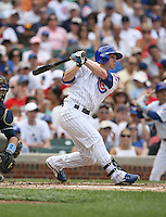 Mike Fontenot of the Chicago Cubs vs. the San Diego Padres: June 18th, 2007 at Wrigley Field in Chicago, IL.  Photo by Mike Janes/Four Seam Images