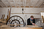 The wheelwright's workshop at Colonial Williamsburg is housed on the grounds of the Governor's Palace.
