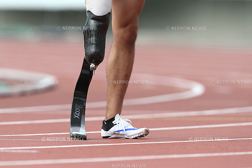 Prosthetic leg,<br /> MAY 1, 2016 - Athletics :<br /> Japan Para Athletics Championships<br /> at Coca Cola West Sports Park, Tottori, Japan.<br /> (Photo by Shingo Ito/AFLO SPORT)