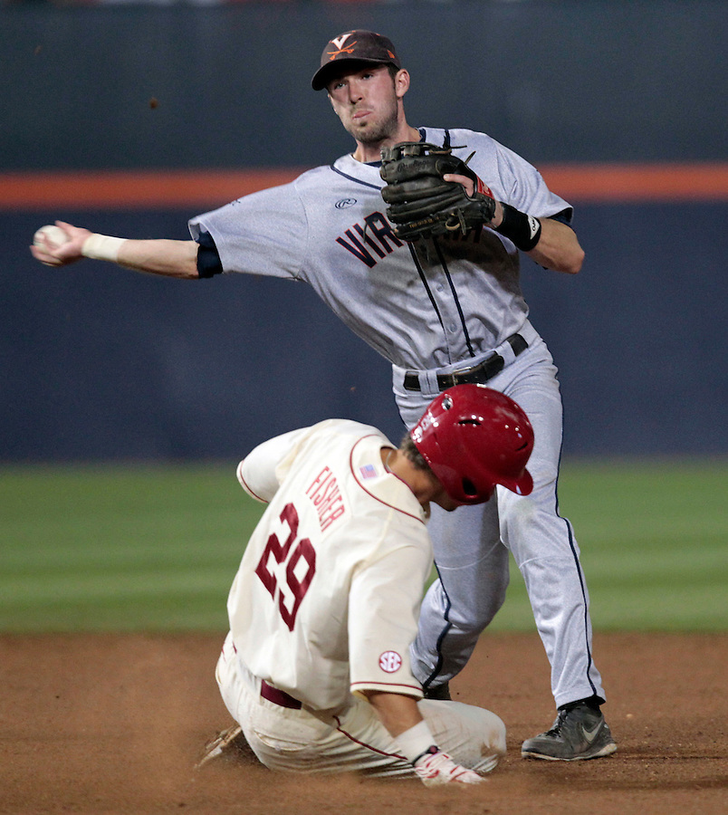 during an NCAA college baseball regional tournament game against in Charlottesville, VA., Sunday, June 1, 2014. Virginia won 9-2. (AP Photo/Andrew Shurtleff)