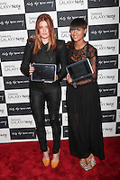 Icona Pop attend the Samsung Galaxy Note 10.1 Launch Event in New York City, August 15, 2012. © Diego Corredor/MediaPunch Inc. /NortePhoto.com<br />