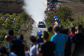 6th October 2017, Costa Daurada, Salou, Spain; FIA World Rally Championship, RallyRACC Catalunya, Spanish Rally; Dani Sordo - Marc Marti of Hyundai Motorsport during the SS3 in Villalba dels Arcs