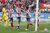 Atletico Madrid´s Portuguese midfielder Tiago celebrating after scoring
