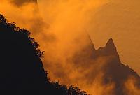 Sunset, Kalalau Overlook, Kokee State Park.