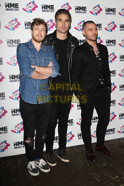 Busted at The VO5 NME Awards 2017 at the O2 Academy, Brixton, London on February 15th 2017<br /> CAP/ROS<br /> &copy;Steve Ross/Capital Pictures