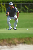Graeme McDowell (NIR) looks over his putt on a windy geen on 6 during round 1 of the 2019 Charles Schwab Challenge, Colonial Country Club, Ft. Worth, Texas,  USA. 5/23/2019.<br /> Picture: Golffile | Ken Murray<br /> <br /> All photo usage must carry mandatory copyright credit (© Golffile | Ken Murray)