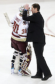 Dave Flint (NU - Head Coach) served as an assistant coach of the US 2010 Olympic team which included Molly Schaus (BC - 30). - The Boston College Eagles defeated the visiting Northeastern University Huskies 2-1 on Sunday, January 30, 2011, at Conte Forum in Chestnut Hill, Massachusetts.