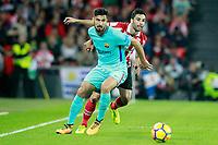 Athletic de Bilbao's Eneko Boveda (r) and FC Barcelona's Andre Gomes during La Liga match. October 28,2017. (ALTERPHOTOS/Acero) /NortePhoto.com