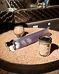 June 18, 2013. Chapel Hill, North Carolina<br />  Locally grown organic soft red winter wheat from Scotland Neck, NC is used in all TOPO products.<br />  TOPO, Top of the Hill Distillery, the brainchild of owner Scott Maitland and Spirit Guide Esteban McMahan, is located in the old N&O Building on Franklin Street. Making gin, vodka and American whiskey from locally sourced wheat, they are one of the few distilleries bringing  organic liquor to ABC shelves around the state.