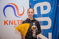 Hilversum, Netherlands, December 3, 2017, Winter Youth Circuit Masters, 12,14,and 16 years, 2 th place girls 14 years  Florentine Dekkers<br /> Photo: Tennisimages/Henk Koster