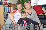 8 year old Paul O'Sullivan, Pinewood Estate, Killarney who is hoping for a kidney transplant before Christmas, pictured with his parents Tony and Teresa.