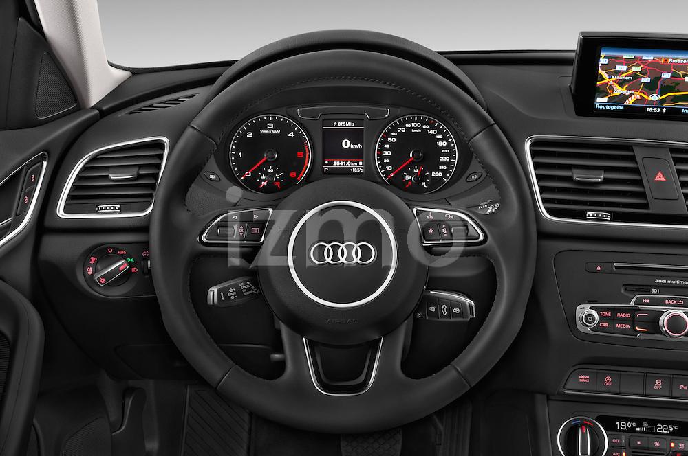 Car pictures of steering wheel view of a 2015 Audi Q3 Sport 5 Door SUV