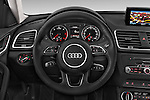 Car pictures of steering wheel view of a 2015 Audi Q3 Sport 5 Door SUV