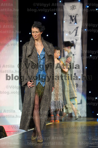Manier Fashion Show presents dresses designed by Aniko Nemeth held in Budapest, Hungary, Friday, 01. October 2010. ATTILA VOLGYI