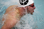Sauk Prairie swimmer Reece Drager makes the turn while swimming the fly at the Badger North Conference Swim Meet.