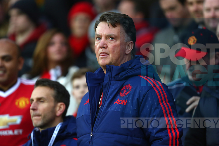 Louis Van Gaal, manager of Manchester United - Manchester United vs West Ham United - Barclay's Premier League - Old Trafford - Manchester - 05/12/2015 Pic Philip Oldham/SportImage