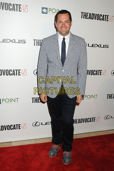 Ross Mathews.The Advocate 45th Benefiting The Point Foundation held at the Beverly Hilton Hotel, Beverly Hills, California, USA..March 29th, 2012.full length grey gray suit jacket black trousers check.CAP/ADM/BP.©Byron Purvis/AdMedia/Capital Pictures.