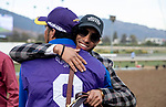 November 2, 2019 : Bricks and Mortar, ridden by Irad Ortiz, Jr., wins the Longines Breeders' Cup Turf on Breeders' Cup Championship Saturday at Santa Anita Park in Arcadia, California on November 2, 2019. Alex Evers/Eclipse Sportswire/Breeders' Cup/CSM