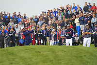 Tommy Fleetwood (Team Europe) on the 7th fairway during Friday Fourball at the Ryder Cup, Le Golf National, Iles-de-France, France. 28/09/2018.<br /> Picture Thos Caffrey / Golffile.ie<br /> <br /> All photo usage must carry mandatory copyright credit (© Golffile | Thos Caffrey)