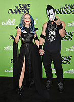 "HOLLYWOOD, CA - SEPTEMBER 04: Alissa White-Gluz (L) and Doyle Wolfgang von Frankenstein attend the LA Premiere Of ""The Game Changers"" at ArcLight Hollywood on September 04, 2019 in Hollywood, California.<br /> CAP/ROT/TM<br /> ©TM/ROT/Capital Pictures"