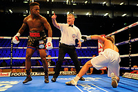 Darryl Williams (black shorts) defeats V Raimond Sniedze during a Boxing Show at the The O2 Arena on 23rd June 2018