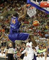 Spain's Serge Ibaka during friendly match.July 24,2012. (ALTERPHOTOS/Acero)