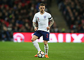 27th March 2018, Wembley Stadium, London, England; International Football Friendly, England versus Italy; Kieran Trippier of England on the ball
