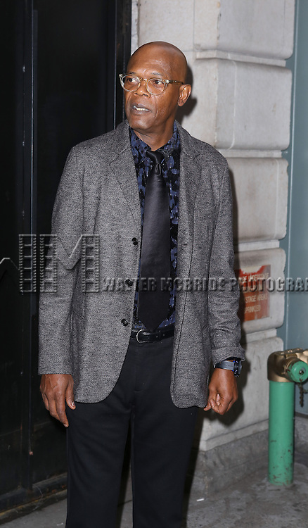 Samuel L. Jackson attending the Broadway Opening Night Performance of 'A Raisin In The Sun'  at the Barrymore Theatre on April 3, 2014 in New York City.