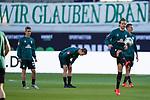 Niclas Füllkrug / Fuellkrug (Werder Bremen #11), Sebastian Langkamp (Werder Bremen #15), Banner wir glauben dran<br /> <br /> <br /> Sport: nphgm001: Fussball: 1. Bundesliga: Saison 19/20: Relegation 02; 1.FC Heidenheim vs SV Werder Bremen - 06.07.2020<br /> <br /> Foto: gumzmedia/nordphoto/POOL <br /> <br /> DFL regulations prohibit any use of photographs as image sequences and/or quasi-video.<br /> EDITORIAL USE ONLY<br /> National and international News-Agencies OUT.