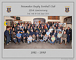 1981 to 1990 Patumahoe Rugby Club 125th Anniversary group photo, June 4th 2011.