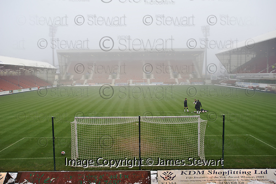GENERAL VIEW OF EAST END PARK AT 14.05 AFTER REFEREE BOBBY MADDEN CALLED THE GAME OFF