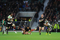 TJ Perenara of New Zealand finds space during the 125th Anniversary Match between Barbarians and New Zealand at Twickenham Stadium on Saturday 4th November 2017 (Photo by Rob Munro/Stewart Communications)