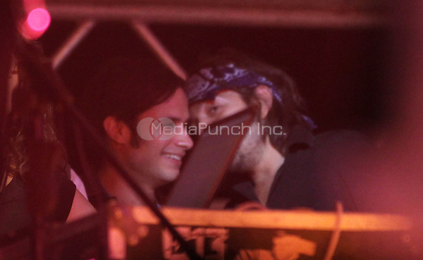 Gael Garcia Bernal and Diego Luna seen at a Calle 13 in concert in Mexico. May 25, 2012. © Tirador Primero/NortePhoto/MediaPunch Inc. ***NO MEXICO*** ***NO SPAIN***