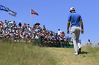 Dustin Johnson (USA) walks onto the 1st tee to start his match during Friday's Round 2 of the 117th U.S. Open Championship 2017 held at Erin Hills, Erin, Wisconsin, USA. 16th June 2017.<br /> Picture: Eoin Clarke | Golffile<br /> <br /> <br /> All photos usage must carry mandatory copyright credit (&copy; Golffile | Eoin Clarke)
