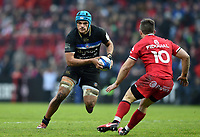 Zach Mercer of Bath Rugby in possession. Heineken Champions Cup match, between Stade Toulousain and Bath Rugby on January 20, 2019 at the Stade Ernest Wallon in Toulouse, France. Photo by: Patrick Khachfe / Onside Images