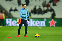 Aaron Cresswell of West Ham United warms up  during West Ham United vs Fulham, Premier League Football at The London Stadium on 22nd February 2019