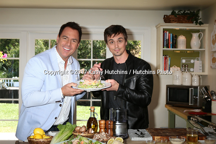 """LOS ANGELES - APR 14:  Mark Steines, Darin Brooks at the """"Home and Family"""" Celebrates """"Bold and Beautiful's"""" 30 Years at Universal Studios Back Lot on April 14, 2017 in Los Angeles, CA"""