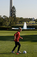 Lori Lindsey. Michelle Obama hosted a Lets Move! soccer clinic held on the South Lawn of the White House assisted by members of the USWNT.  Let's Move! was started by Mrs. Obama as a way to promote a healthier lifestyle in children across the country.