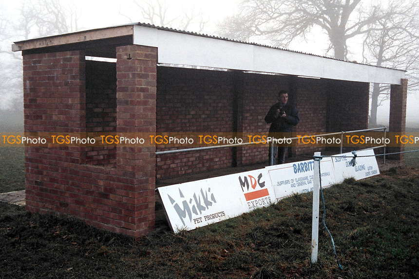 Covered area at Caddington FC, Caddington Recreation Club, Manor Road, Caddington, Luton, Bedfordshire, pictured on 1st February 1992