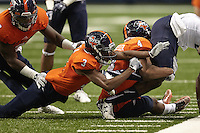 SAN ANTONIO, TX - NOVEMBER 7, 2015: The Old Dominion University Monarchs hold on to defeat the University of Texas at San Antonio Roadrunners 36-31 in the Alamodome. (Photo by Jeff Huehn)