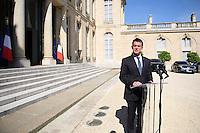 Manuel Valls - - Conseil restreint de sÈcurite et de defense ‡ l'Elysee suite a l'attentat de Nice perpetre le 14 juillet.