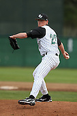February 21, 2010:  Pitcher Kurt Schluter (27) of the Stetson Hatters during the teams opening series at Melching Field at Conrad Park in DeLand, FL.  Photo By Mike Janes/Four Seam Images