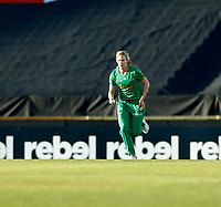 2nd November 2019; Western Australia Cricket Association Ground, Perth, Western Australia, Australia; Womens Big Bash League Cricket, Perth Scorchers versus Melbourne Stars; Holly Ferling of the Melbourne Stars runs into bowl - Editorial Use