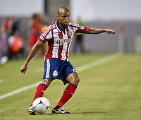 CARSON, CA - August 25, 2012: Chivas USA forward Tristan Bowen (20) during the Chivas USA vs Seattle Sounders match at the Home Depot Center in Carson, California. Final score, Chivas USA 2, Seattle Sounders 6.