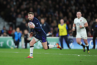 Finn Russell of Scotland runs in a try during the Guinness Six Nations Calcutta Cup match between England and Scotland at Twickenham Stadium on Saturday 16th March 2019 (Photo by Rob Munro/Stewart Communications)