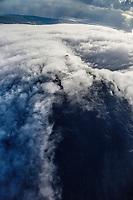 France, île de la Réunion, Parc national de La Réunion, classé Patrimoine Mondial de l'UNESCO, volcan du Piton de la Fournaise, le cratère Dolomieu (vue aérienne) // France, Reunion island (French overseas department), Parc National de La Reunion (Reunion National Park), listed as World Heritage by UNESCO, Piton de la Fournaise volcano, Dolomieu crater (aerial view)