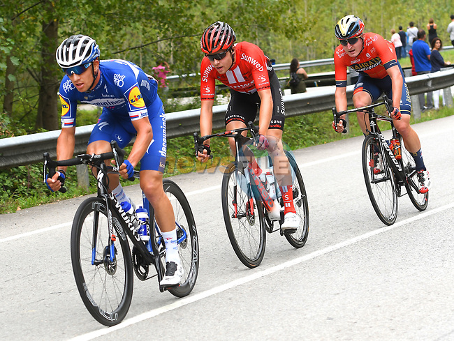 Zdenek Stybar (CZE) Deceuninck-Quick Step in the day's first breakaway during Stage 16 of La Vuelta 2019  running 144.4km from Pravia to Alto de La Cubilla. Lena, Spain. 9th September 2019.<br /> Picture: Karlis | Cyclefile<br /> <br /> All photos usage must carry mandatory copyright credit (© Cyclefile | Karlis)