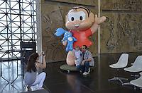 SAO PAULO, 26 DE FEVEREIRO DE 2013. - EXPOSICAO MONICA 50 ANOS - Exposicao comemorando 50 anos da Monica, personagem de Gibi criado por Mauricio de Souza, no Memorial da America Latina, na Barra Funda, regiao oeste da capital, na tarde desta terca feira, 26. (FOTO: ALEXANDRE MOREIRA / BRAZIL PHOTO PRESS)